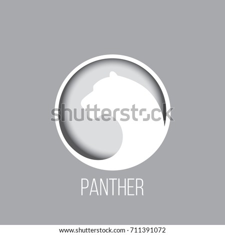 Logo panther in an unusual gradient.