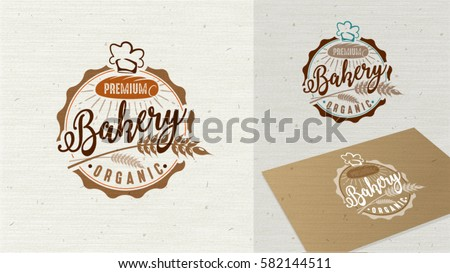 Logo Premium Bakery badge and icon. Modern style vector. Retro bakery label. Bakery badge design element easy editable for Your design.