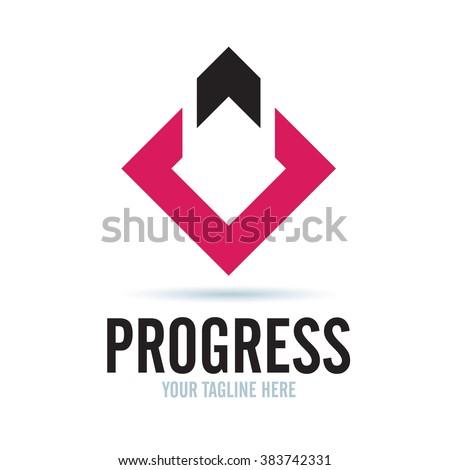 Logo Progress Icon Element Template Design Logos