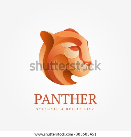logo puma head in an unusual