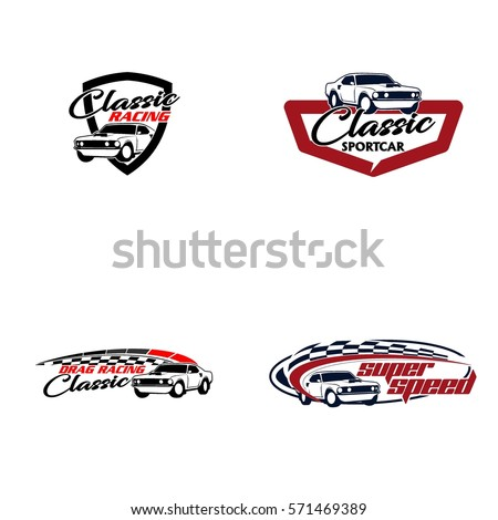Royalty Free Red And Black Car Wings Logo For 511971466 Stock