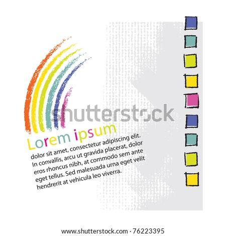 Logo  - rainbow symbolic design (blank text layout)