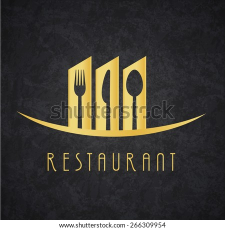 Logo Restaurant Gold and Black