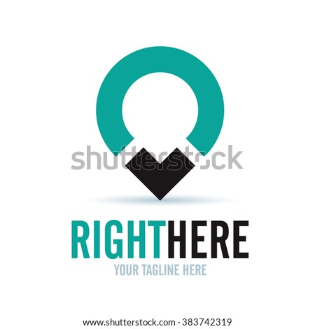 Logo Right Here Icon Element Template Design Logos