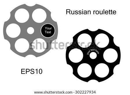 Stock Photo Logo Russian roulette style. Russian roulette icon. Vector illustration