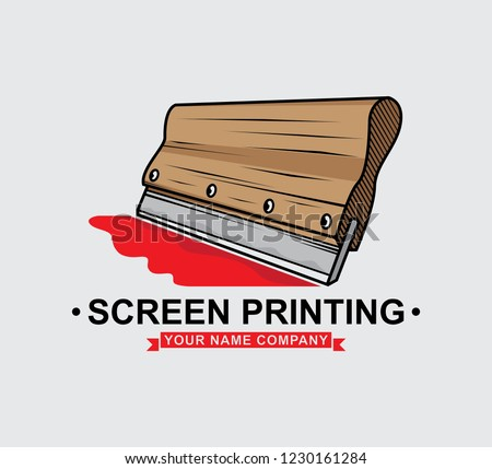 logo screen printing squeegee design, vector EPS 10