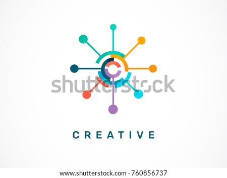 Logo set - creative, technology, biotechnology, tech icon and symbol