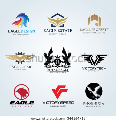 logo set logo collection eagle