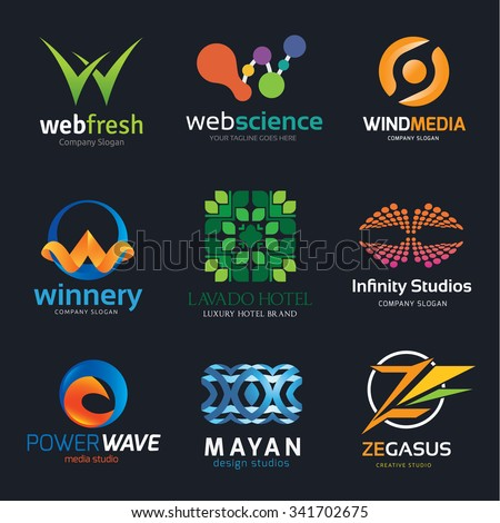 logo set logo collection w logo