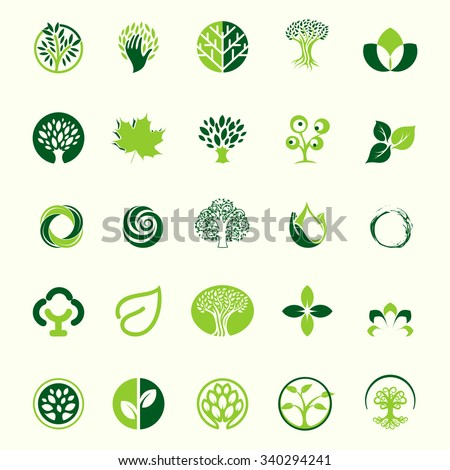 logo set logos trees logo