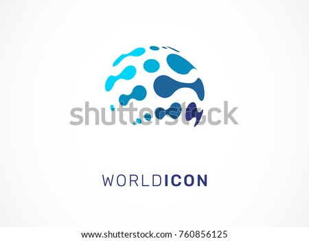 Logo set - technology, biotechnology, tech icon and symbol