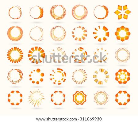 logo set vector sun sun