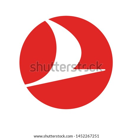logo sign symbol icon vector template Turkish Airlines national flag carrier airline of Turkey based in Istanbul