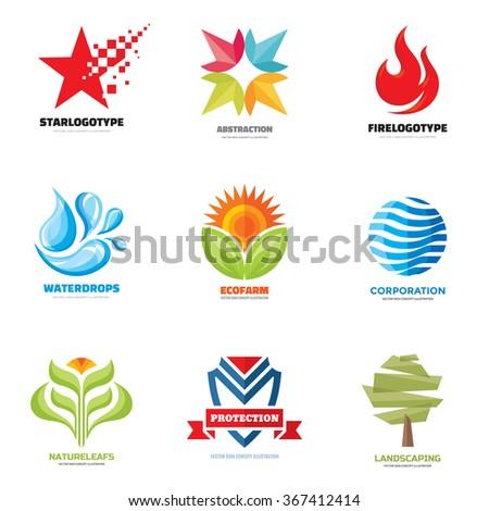 logo sign template vector set