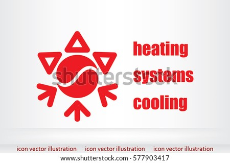 heating cooling icon. heating and cooling systems. air conditioning icons icon