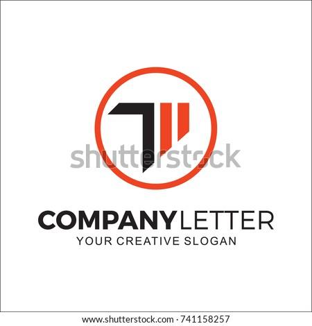 logo sport, logo initial t Stock fotó ©