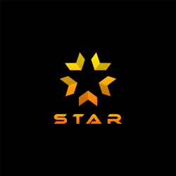 Logo star on isolated black background