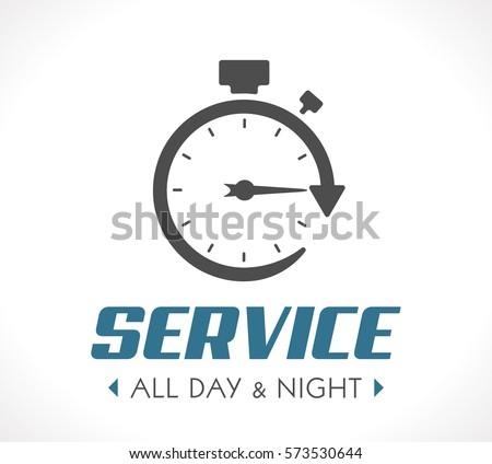 logo   stopwatch concept   all