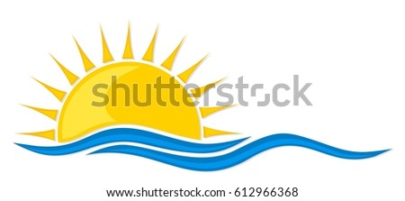 logo sun and sea