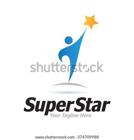 Logo Super Star Icon Element Template Design Logos