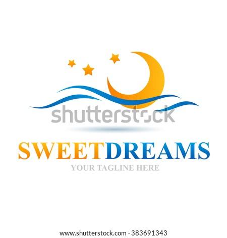 Logo Sweet Dreams Icon Element Template Design Logos