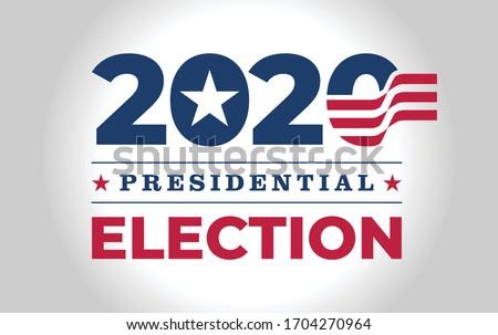 Logo / symbol / icon design for American (USA) presidential 2020 election year.