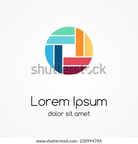 logo template abstract circle