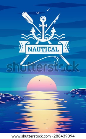 logo template nautical and