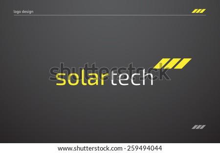 logo template solar panels