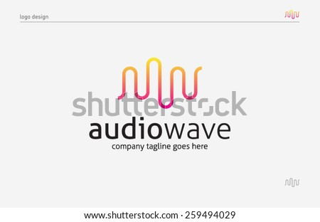 logo template sound wave  music