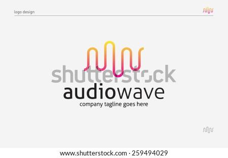 logo template sound wave  music
