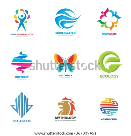 logo template vector set