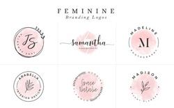 Logo templates collection. Logo set. Minimalist logotypes. Premade logo design - Vector