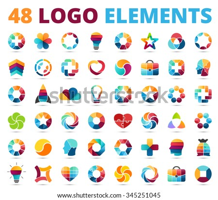 logo templates set abstract