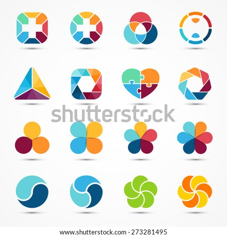 logo templates set modern