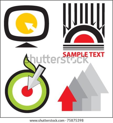 Logo templates set vector illustration