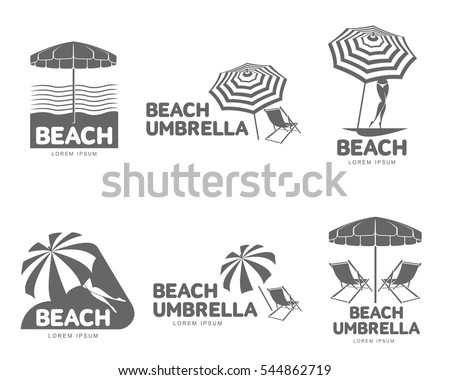 logo templates with beach