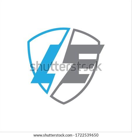 Logo Text With two alphabet  Foto stock ©