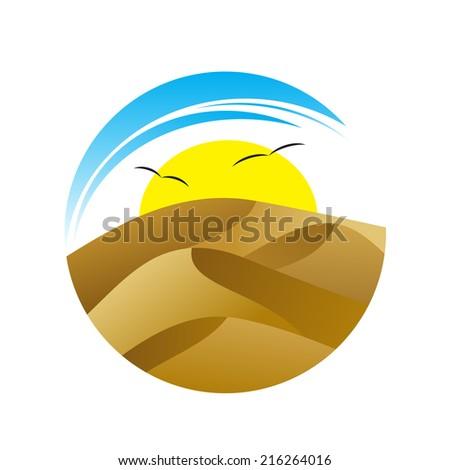 logo the desert with dunes