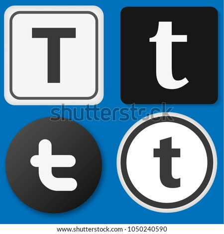 logo twitter on blue background with shadow, vector illustration