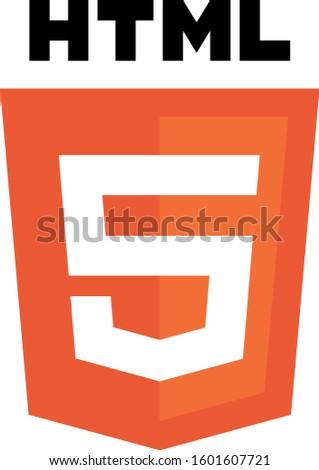 Logo Vector HTML 5 low nodes, high performance Stock fotó ©