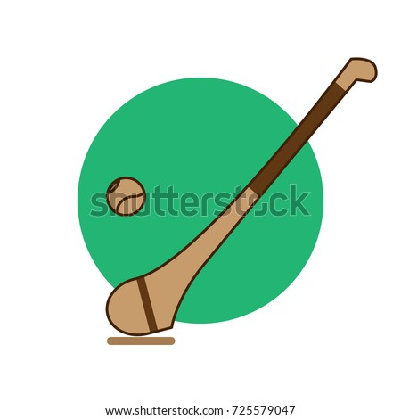 Logo vector hurling game. Irish hurling. Hurley and sliotar.