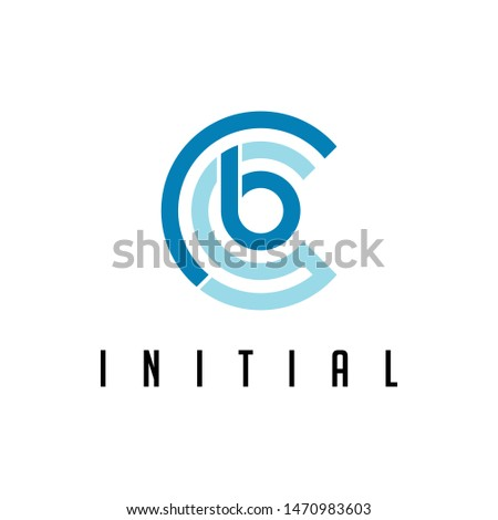 Logo vector initials of letter C,letter B and letter S.
