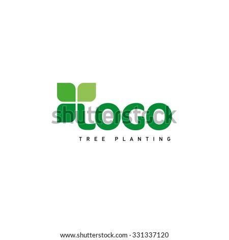 logo vector leaf eco