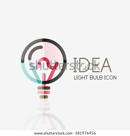 logo  vector light bulb
