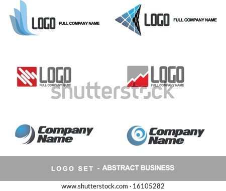 Logo vector set business abstract concept (others elements and logo  in my portfolio)