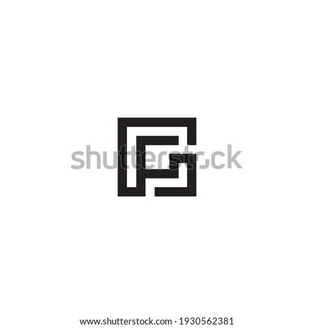 logo vector symbol abstract p g  Stock fotó ©