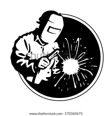 logo welder black silhouette
