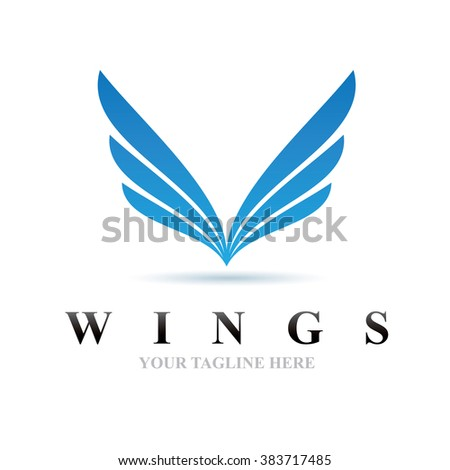 logo wings icon element