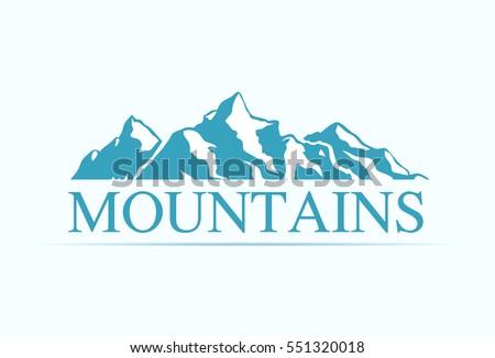 logo with alpen mountains